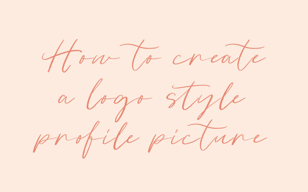 How to create a logo style Instagram profile picture in Photoshop