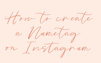 How to Use Nametags on Instagram